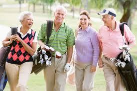 senior golf foursome