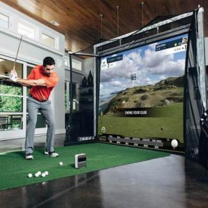 garage golf simulator