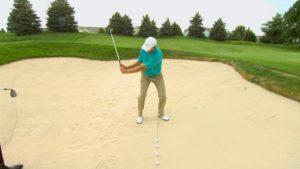 golf sand shot
